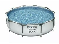Bestway 10ft Steel Pro Max Garden Lawn Frame Pool Unisex Above Ground Pools