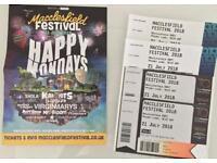 4x Tickets MACCLESFIELD FESTIVAL - 21st July 2018