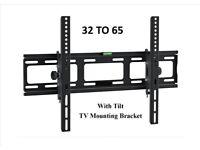 TV WALL BRACKET LCD Tilting TV mount 32 - 65 NEW
