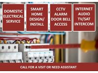 Electrical / CCTV / Smart Home / Alarm / Access control installation and support