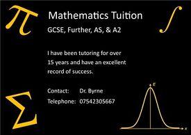 Mathematics Tuition (all levels)