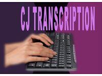 Interview Transcription / Manuscripts / Copy Typing / Typing / Verbatim