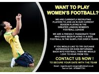 LADIES FOOTBALL TEAM - NEW PLAYERS REQUIRED