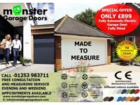 Monster Garage Doors 01253 983711 Electric Garage 10 year Guarantee £899 Fitted cleveleys,Blackpool