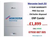 WORCESTER BOSH BOILER 34CDI SUPPLY AND FIT £1999,combi boiler,central heating,back boiler removed,