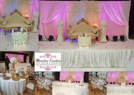 Wedding and party venue decorations, wedding sofa hire