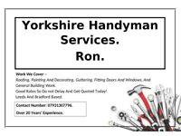 Yorkshire Handyman Services.
