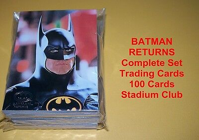 BATMAN RETURNS  Complete Base Set  100 cards - Stadium Club