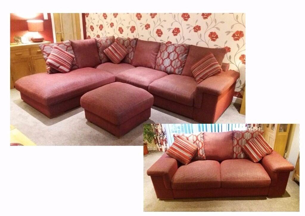 Fairmont Corner Suite Settee And Footstool By Harveys