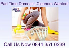 House Cleaners Wanted - Various areas of St Austell