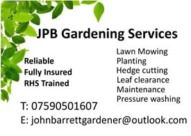 JPB GARDEN SERVICES, RELIABLE, RHS TRAINED AND FULLY INSURED