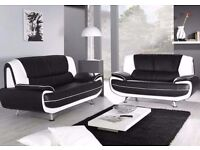 COLOURS OPTION AVAILABLE **** BRAND NEW CAROL 3+2 SOFA SUITE FAUX LEATHER SOFA IN 3 COLOR