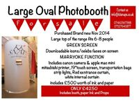 Large Oval Photobooth for sale