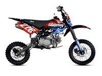 STOMP Z2 140 PIT BIKE, NEW, KIDS MOTORBIKE, CHILDS MOTORBIKE, KIDS DIRT BIKE, MOTOR BIKE.