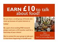 Calling Cardiff mums and dads: Earn £10 to talk about food. Paid interviews for research