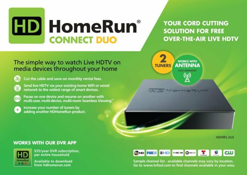 Silicondust HDHomeRun CONNECT DUO Refurb - Free Over the Air TV - Free Shipping