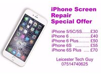 iPhone iPad screen repair special offer in Leicester