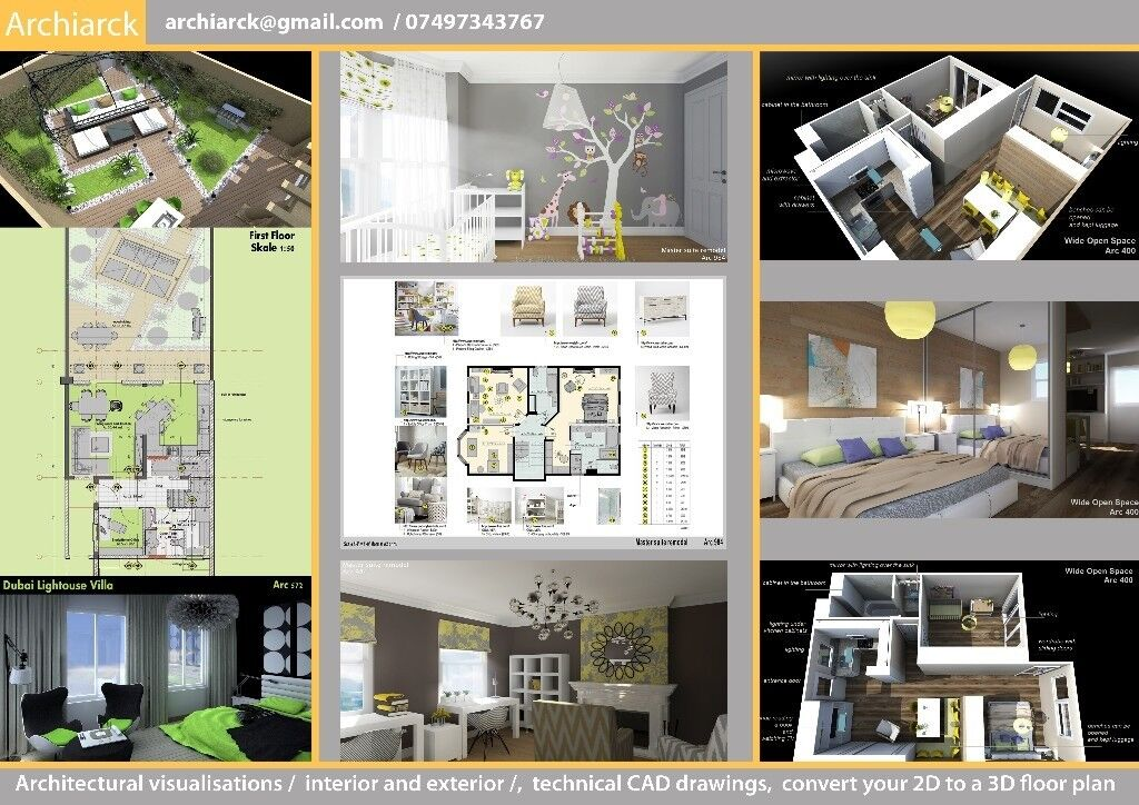 Low Cost Architectural Visualization Interior And Exterior Classy 2D Interior Design Property