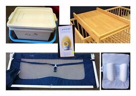 Egg Thermometer, Cot Changer, Bedguard, Babybox & Air Flow Positioner