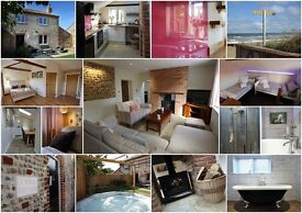 Luxury traditional flint cottage, 2 mins from secluded beach with HOTTUB! Bacton, Norfolk