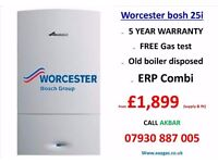 £1899 WORCESTER 25I combi boiler SUPPLY & installation,heating,tanks removed,REPAIR,GAS CERTIFICATE,