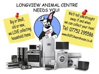 Pre-Loved Working Household Items Collected by the RSPCA for Free, Washers, Dryers, TV's Fridges etc