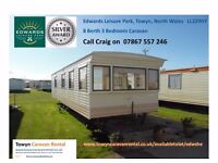 Towyn North Wales Edwards Leisure Park 8 Berth Caravan SAVE £50 EARLYBOOKING EDWSHE
