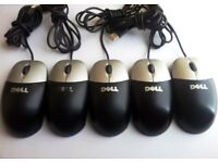 Job Lot of 10 x Dell USB Optical mouse