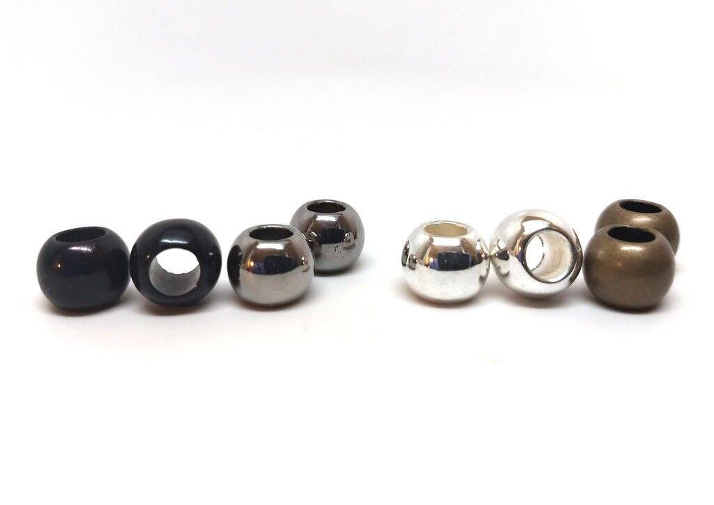Tibetan Tube Spacer Beads 6 x 8mm Antique Silver 30 Pcs Art Hobby DIY Jewellery