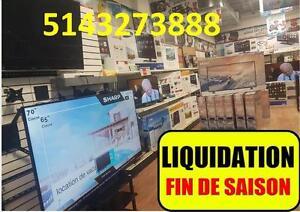 SAMEDI DIMANCHE  GRANDE LIQUIDATION TELEVISIONS & TABLETTES  SAMSUNG MEILLEUR PRIX AU QUEBEC
