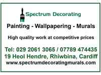 Painting, decorating and murals available in Cardiff