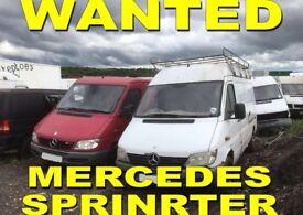 Mercedes Sprinter Wanted!!!