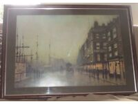 Print of Atkinson Grimshaw's 'Liverpool Quay by Moonlight 1887'