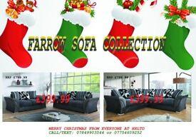 MERRY CHRISTMAS***GET A BRAND NEW FARROW 3+2 SET OR CORNER SOFA FOR £399.99