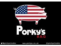 Waiting & Bar Staff needed for Porky's BBQ Bankside