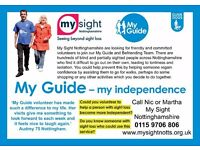 Volunteer to help a person with sight loss become more independent