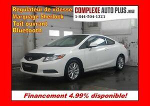 2012 Honda Civic Coupe EX *Toit ouvrant, Mags, Bluetooth
