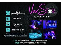 Wedding & Party DJs | PA Hire | Karaoke | Mobile Bars - VoxStar Events & Entertainment Services