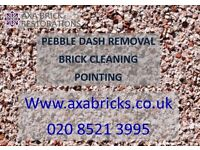 BRICK CLEANING,pointing,PEBBLE DASH REMOVAL,RENDER REMOVAL,Damaged bricks replaced,PAINT REMOVAL