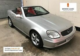 Mercedes Benz SLK 2.0 Kompressor Convertible Auto *Red Leather* Fsh, Air Con, 3 Month Warranty