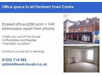 Shared Office Space in Farnham - for 1-3 people, from £250 pcm
