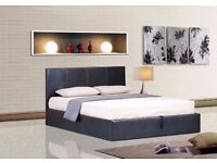 ❤1-YEAR-GRNTEE❤ DOUBLE AND KINGSIZE ITALIAN FAUX LEATHER BED WITH ROYAL 1000 POCKET SPRUNG MATTRESS