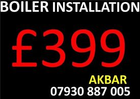 £399 BOILER INSTALLATION,system to combi conversion,MEGAFLO,new gas central heating,GAS LINE,BAXI