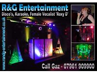 Mobile Disco & Karaoke DJ & Female Vocalist for your Wedding / Birthday etc - R&G Entertainment