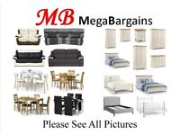 NEW & EX-DISPLAY BRANDED SOFAS, BEDS, DINING TABLES & CHAIRS. CAN DELIVER. VIEW/COLLECT KIRKBY NG177