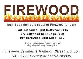 Split Seasoned Hardwood logs for sale FIREWOOD in bulk bags