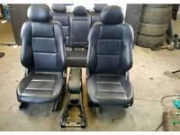 Mercedes Benz W203 C-Class Saloon rear Folding black leather seats set -