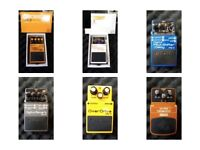 Guitar Pedals (Reverb, Overdrive, Pitch Shifter, Delay, Turbo Distortion, Tremolo)