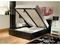 BRAND NEW LEATHER DOUBLE OR SMALL DOUBLE STORAGE HYGENE OTTUMAN Bedding BASE 6K FURNITURES