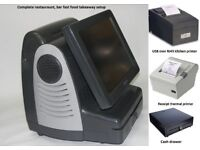 Fast epos & two printers & cash drawer full software restauraunt takeaway pub